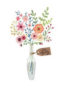 Teacup Vases Greeting Cards Get Well Cards Felicity French Illustration