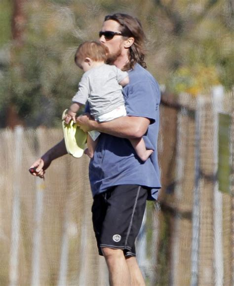christian bale house exclusive christian bale stops to visit a friend s house with his baby boy celeb