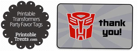 printable decepticon id card template transformers favor tags printable treats