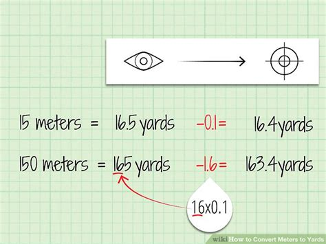 meter to feet how to convert meters to yards 9 steps with pictures