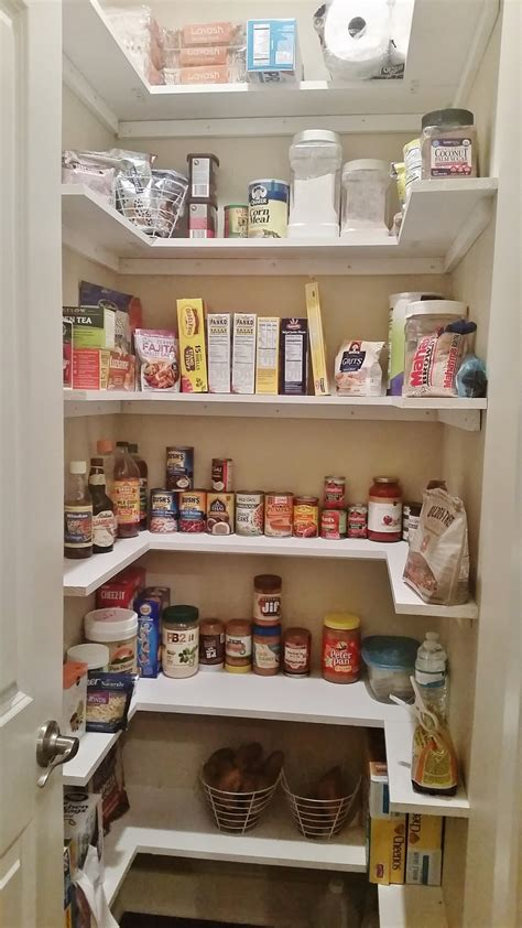Diy Kitchen Pantry by Kitchen Pantry Makeover Replace Wire Shelves With Wrap