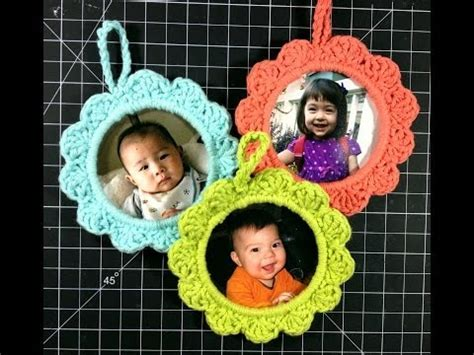 crochet pattern picture frame christmas picture frame ornaments youtube