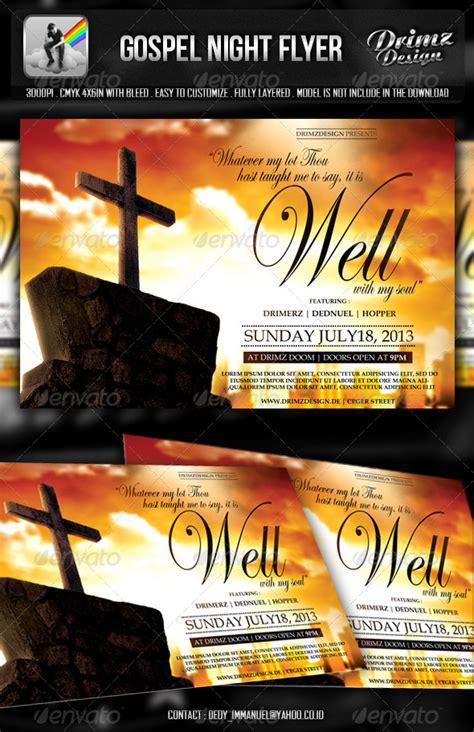 Gospel Night Flyer By Drimerz Graphicriver Gospel Church Flyer Template