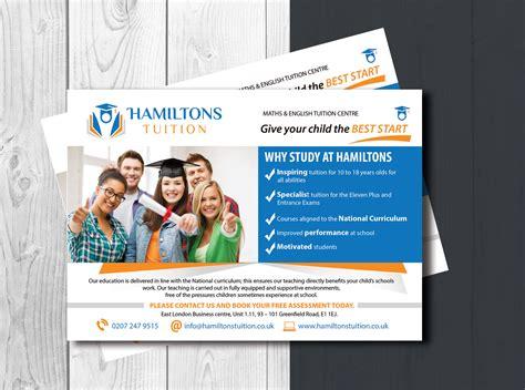 leaflet design for tuition bold professional business flyer design for hamiltons