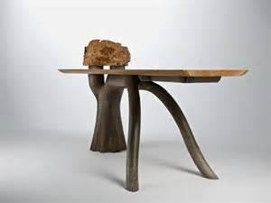 unique desk inspired by evergreen oak trees stumpy desk