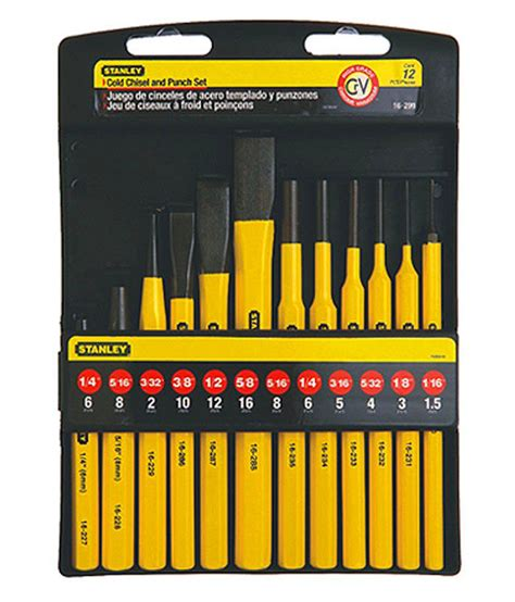 Stanley 16 120 22 Wood Carving Set 6 stanley striking tools 16 299 12 punch chisel kit buy stanley striking tools 16