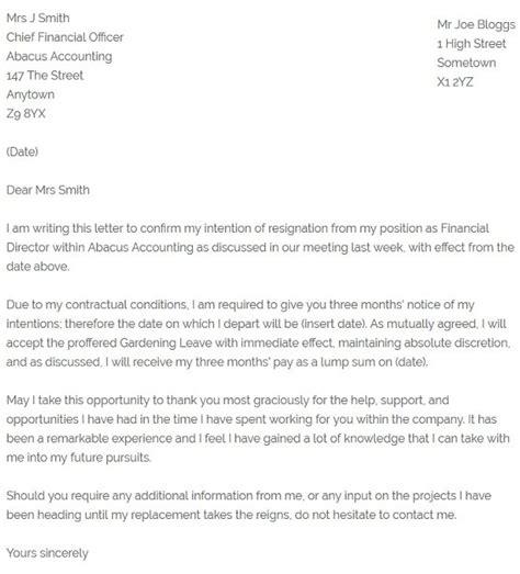 mutual resignation letter resignletterorg