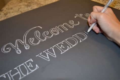 diy chalkboard wedding signs a simple hack miss bizi bee