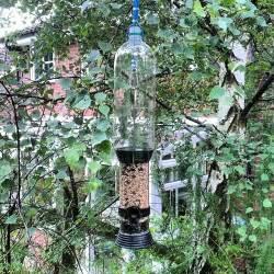 diy anti squirrel bird feeder protector device via