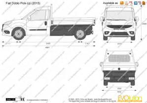 Fiat Doblo Dimensions The Blueprints Vector Drawing Fiat Doblo Up
