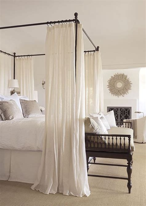 bed frame with curtains 33 canopy beds and canopy ideas for your bedroom digsdigs