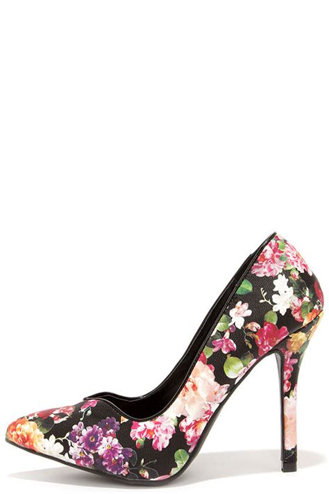 Or Not Ravels Big Flower Shoes by Pretty Floral Print Pumps Floral Heels Pointed Pumps