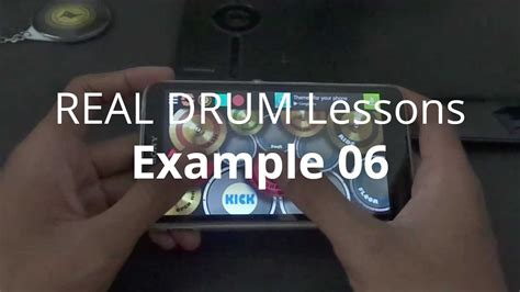 real drum tutorial rude real drum lessons exle 06 youtube