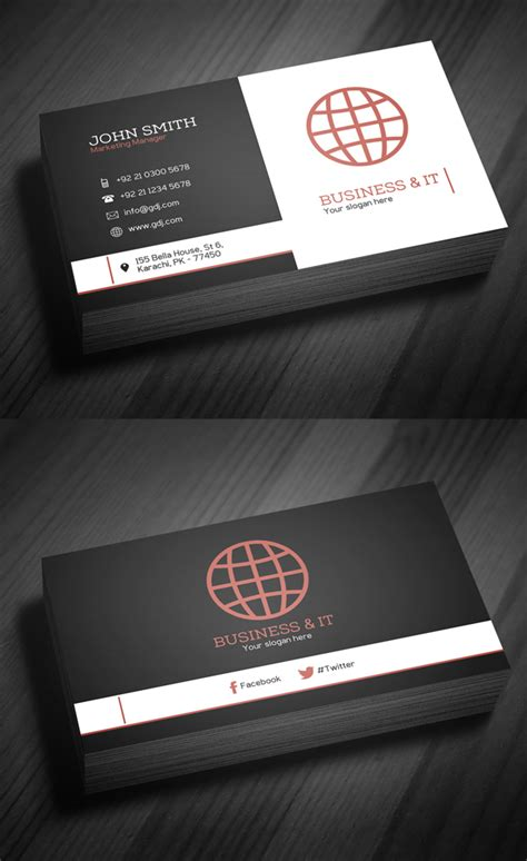 corporate business card template free corporate business card template psd freebies