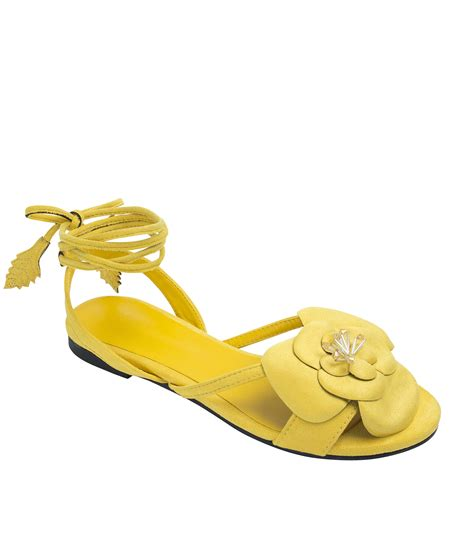 flat yellow sandals womens flower sandals flowers ideas for review