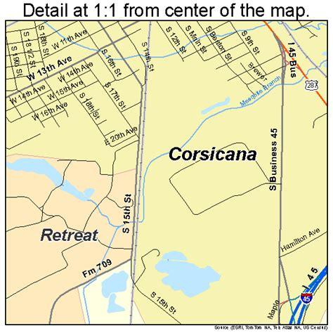 where is corsicana texas on the map corsicana texas road map tx atlas poster print ebay