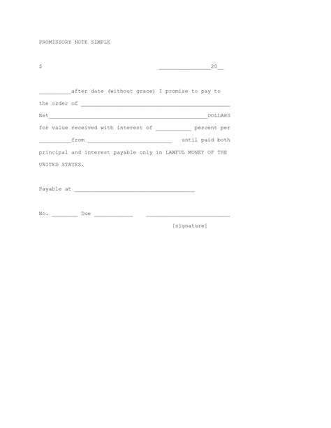 best photos of basic promissory note form simple