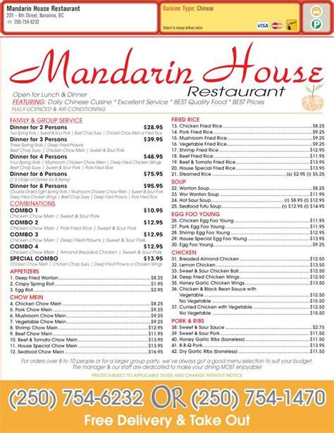 mandarin house menu mandarin house restaurant nanaimo bc 1 201 fourth st canpages
