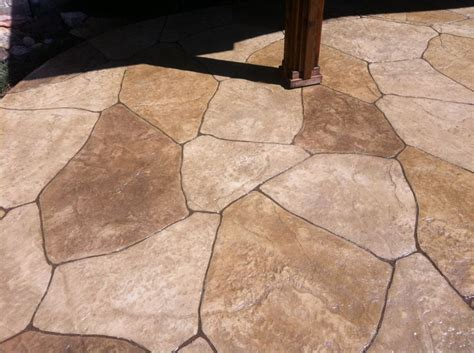 up close pic of sted concrete looks like flagstone
