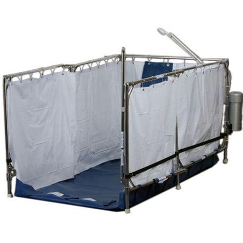 portable cing shower stall portable shower for tilt back wheelchairs