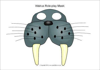 printable walrus mask pin by paula prevoo on poolgebieden knutselidee 235 n pinterest