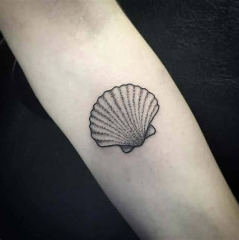 seashell tattoo dotwork awesome seashell design tatted up