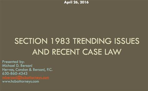 section 1983 cases law cases and presentations hervas condon bersani p c