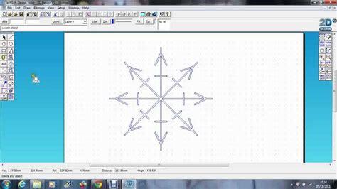 2d design techsoft 2d design snowflake
