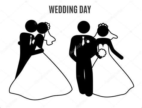 Wedding Stick Figures by Coppie Di Nozze Figura Stilizzata Vettoriali Stock