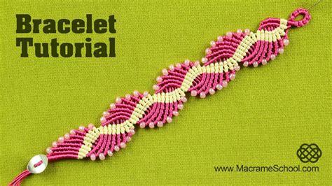 Macrame Tutorial - wavy lagoon macram 233 bracelet tutorial macram 233 bracelet