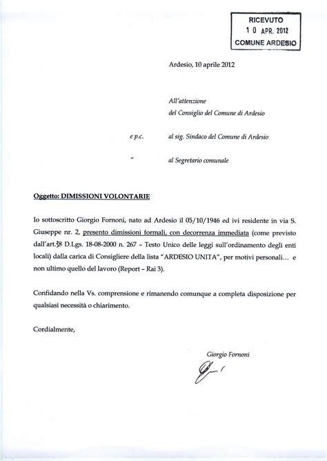 lettere di licenziamento dimissioni giorgio ardesio unita