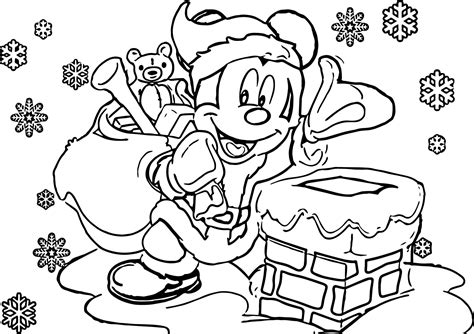 mickey mouse santa coloring pages cartoon celebrations disney christmas coloring pages