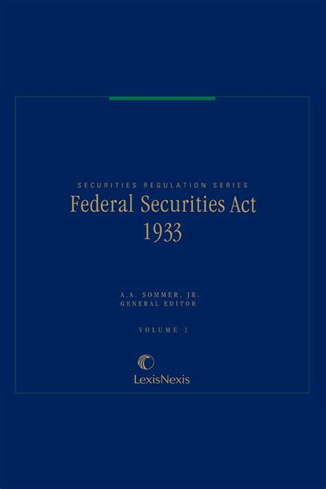 Securities Act Section 3 by Federal Securities Act Of 1933 Lexisnexis Store