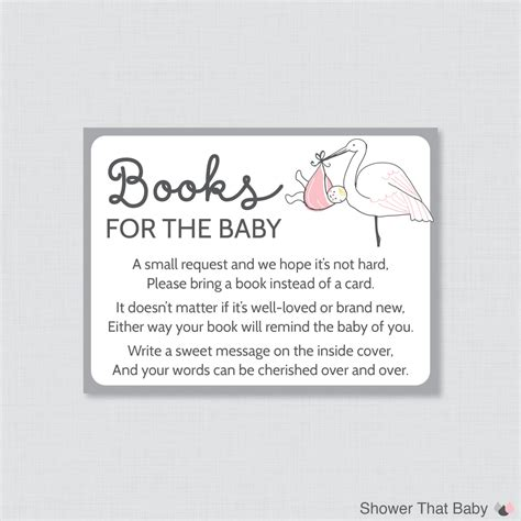 What Do You Take To A Baby Shower by Stork Baby Shower Bring A Book Instead Of A Card Invitation