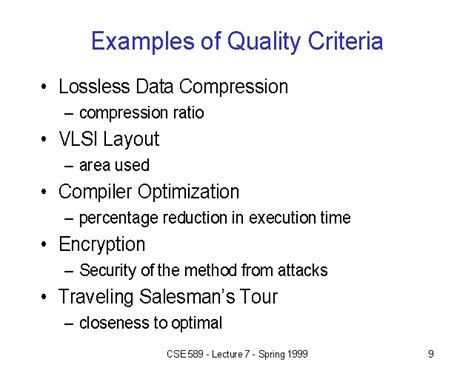 design quality guidelines exles of quality criteria