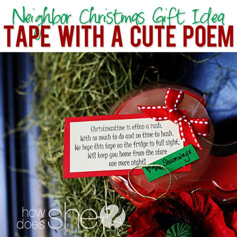 neighbor christmas idea tape