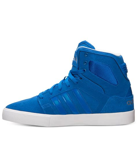 lyst adidas s bbneo hi top casual sneakers from finish line in blue for