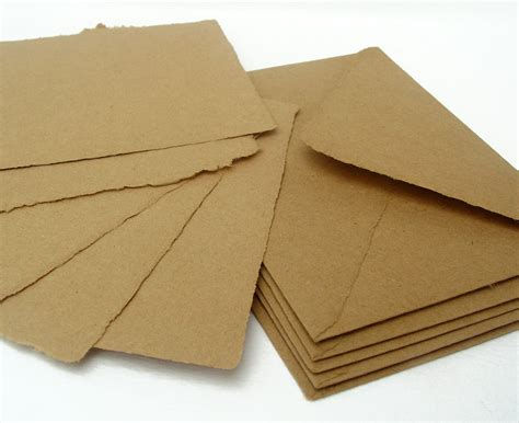 Paper Envelopes - brown papers and envelopes handmade recycled kraft paper a2
