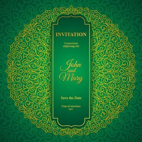 Wedding Invitation Card Eps by Orante Green Wedding Invitation Cards Design Vector 05