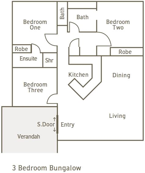 3 Bedroom Bungalow Layout Seashells Broome Accommodation Self Contained Apartments