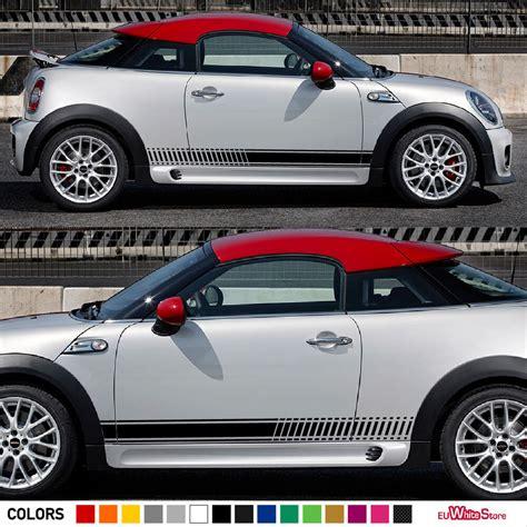 sticker decal side stripe kit  mini coupe cooper  sd