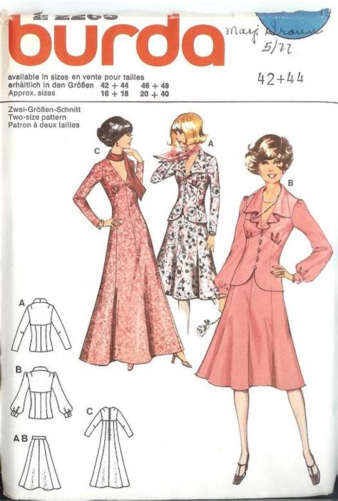 sewing patterns uk plus size oop burda sewing pattern womens misses sizes with plus