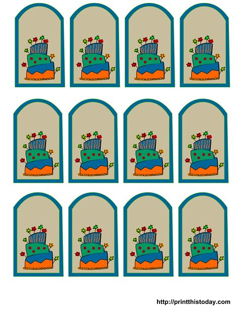 printable birthday favors printable birthday gift tags templates christmas fun zone