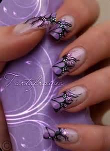 Purple and black nail art amazing purple and black nail art