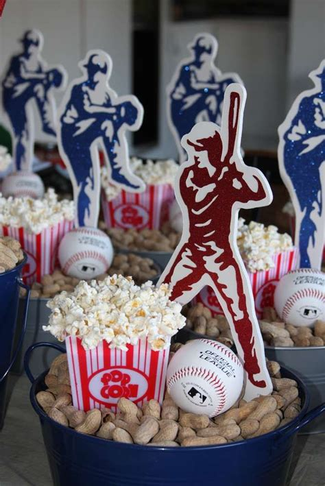 banquet party favors best 25 baseball centerpieces ideas on baseball baseball food and