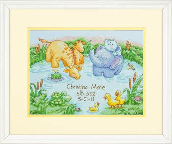 Birth Record Cross Stitch Kits Baby Birth Announcements Cross Stitch Patterns Kits 123stitch