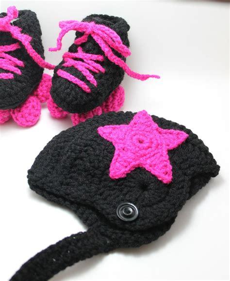 crochet pattern roller skate booties roller derby baby booties roller skates jammer hat and