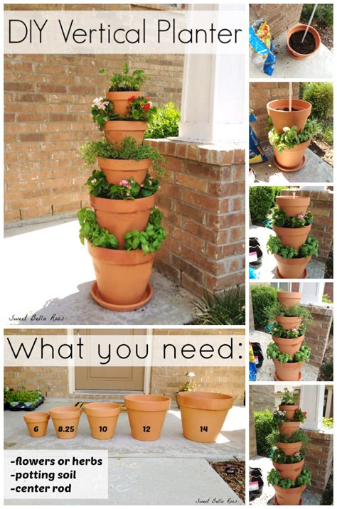 how to build a vertical herb garden diy vertical planter grace and eats