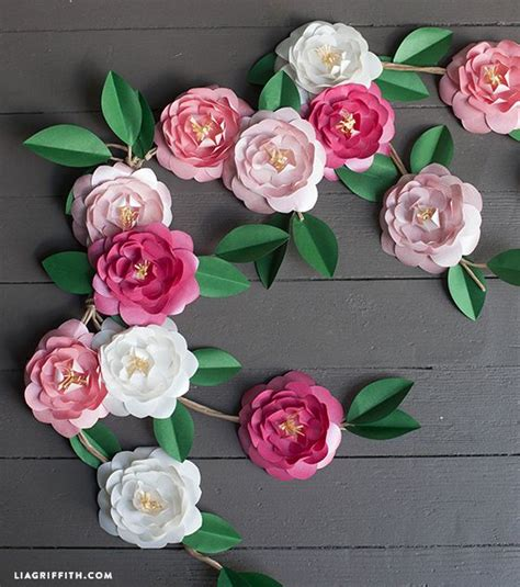 Garland With Paper Flowers - 17 best ideas about paper flower garlands on