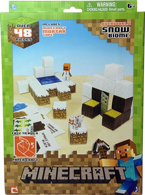 Minecraft Papercraft Snow Set - pin minecraft papercraft snowman on